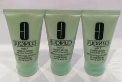 LOT OF 3 x CLINIQUE 7 DAY SCRUB CREAM RINSE-OFF FORMULA 30ML
