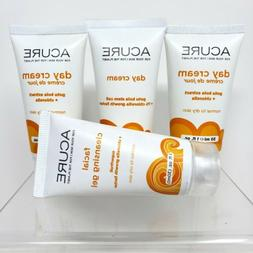 Lot of 4 Acure Travel Size Day Cream Facial Cleansing Gel Ne