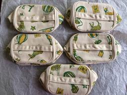 Lot of 5 Origins Cosmetic Mini Travel Case Bag Pouch Small s