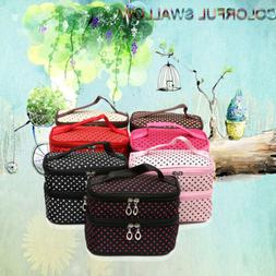 Makeup Cosmetic Bag Travel Size Case Toiletry Organizer Zipp