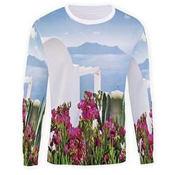 MOOCOM Men's Crewneck Travel Decor Sweatshirt
