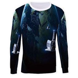 MOOCOM Men's Galaxy Sweatshirt Pullover