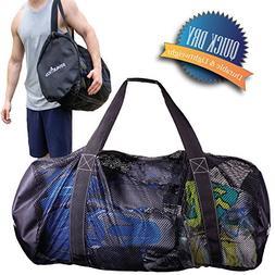 Athletico Mesh Dive Duffel Bag for Scuba or Snorkeling - XL