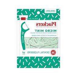 Plackers Micro Mint Dental Floss Picks, 36 Count