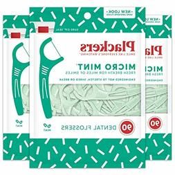 Plackers Micro Mint Dental Floss Picks, 90 Count