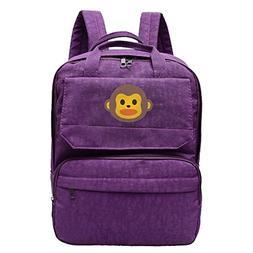 Rongyingst Monkey Emoji Waterproof Hiking Backpack Travel Ba