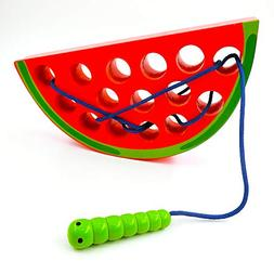 ADSM Montessori Activity Wooden Baby and Toddler Watermelon
