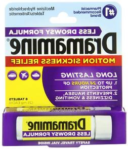 Dramamine Motion Sickness Relief Less Drowsey Formula, 8 Cou