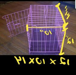 Multi Size Portable Dog Pet Cat Crate Cage Kennel Metal Fold