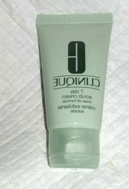 NEW CLINIQUE 7 Day Scrub Cream Rinse Off Formula ~ Travel Si