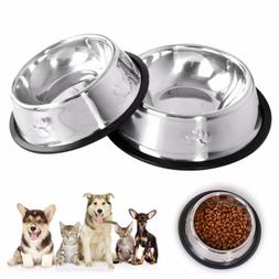 New Dog Cat Bowls Stainless Steel <font><b>Travel</b></font>