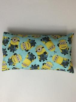 New Handmade Toddler Travel Size Pillow w/ Blue Pillowcase D