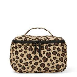 NWT Vera Bradley Leopard Travel Cosmetic Organizer Black Bro