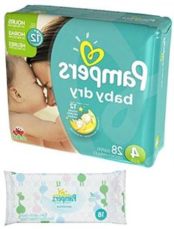Pampers Baby Dry Size 4 Disposable Diapers - 28 count  + Sen