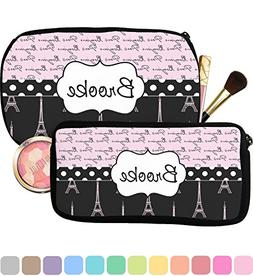 Paris Bonjour and Eiffel Tower Makeup/Cosmetic Bag - Small
