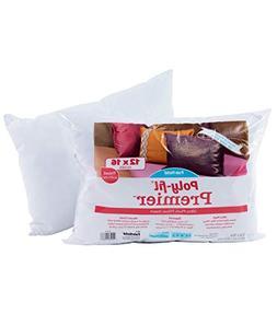 "Fairfield Poly-Fil Premier Accent/Travel Pillow Insert, 12"""