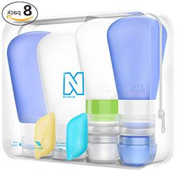 Portable 3-layer Leakproof Silicon Soft Travel Bottle Sets W