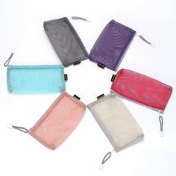 Sea Team 6pcs Multicolored Portable Travel Toiletry Pouch Ny