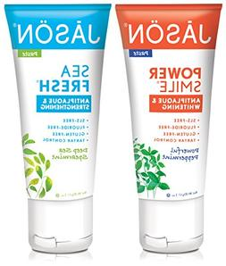 Jason Powersmile Travel Size Toothpaste, Peppermint with Dee
