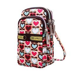AutumnFall Women's Fashion Print Zipper Sport Handbags Mini
