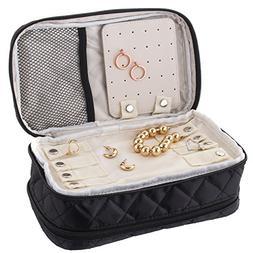Ellis James Designs Travel Jewelry Organizer Bag Case - Blac