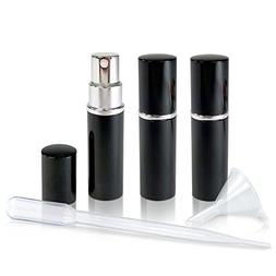 Refillable Perfume & Cologne Fine Mist Atomizers with Metall
