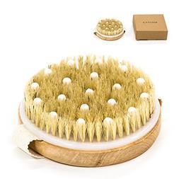round wooden bath shower brush