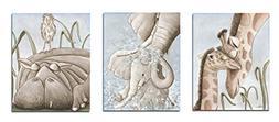 Safari Theme Wall Art VINTAGE Unframed Set Of 3 Fine Art Pri