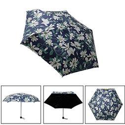 AutumnFall Sun Umbrella, Mini Waterproof Pocket 5 Folding Co