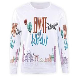 Sweatshirt Pullover Hoodie Men,Quote Decor,3D Print