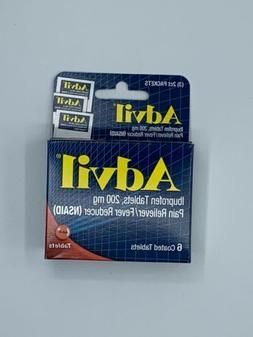 Advil Tablets Travel Size- 6ct. Headache/Pain Reliever  NIB