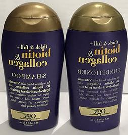 OGX Thick & Full Biotin & Collagen Shampoo and Conditioner S