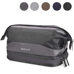Toiletry Bag for Travel, KUSOOFA Shaving Bag with Double Lay