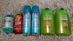 Travel Size Garnier Fructis Sleek & Shine Shampoo NEW Set of