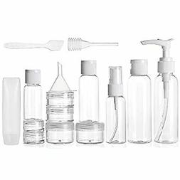 Travel Size Toiletry Bottles Set, TSA Approved Clear Cosmeti