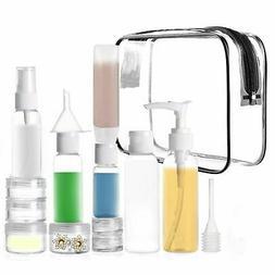 Travel Size TSA Approved Toiletry Bottles Set Cosmetic Makeu