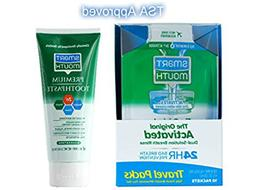 TSA Approved Travel Toothpaste and Oral Rinse, SmartMouth Or