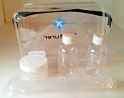 Venturer TSA Compliant Travel Container Kit | Quart-size Bag