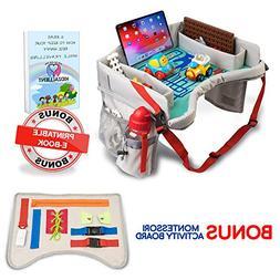 Unique Kids Activity Travel Tray with Montessori Soft Board,
