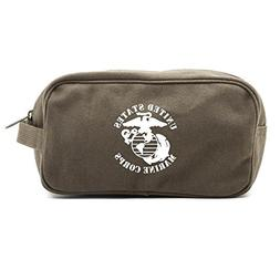 United States Marine Corps Canvas Shower Kit Travel Toiletry