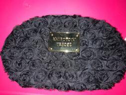 Victoria's Secret Makeup Bag Satin Flowers Rose Travel Zip C