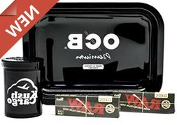 Vintage OCB Bundle Pack Rolling Tray Travel Size with RAW Bl