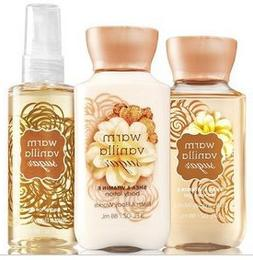 Bath & Body Works Warm Vanilla Sugar Mini Set | Shower Gel,