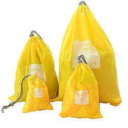 shouldbuy 4 pieces Waterproof Travel Drawstring Bag Shoe Lau