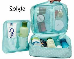 Waterproof Makeup Bag Travel Cosmetic Kit Large Essentials T