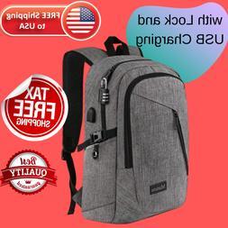 Waterproof Resistant Laptop Backpack Collage Travel for Men
