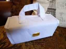 White Joy Mangano Better Beauty Case Removable Pouch Hanging