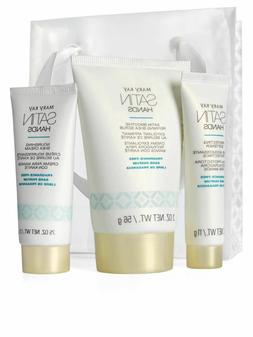 Mary Kay White  Satin Hands Pampering Set Deluxe MINI Travel