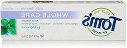Tom's of Maine Whole Care with Fluoride Natural Toothpaste P