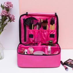 Women Makeup Bag Cosmetic Case Storage Handle Travel Organiz